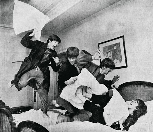 Beatles pillow fight 2